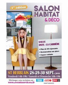 Maisons Bouvier participe au 1er salon Habitat Déco de St Herblain le 28 - 29 et 30 septembre 2018