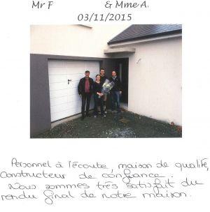 Mr F.... & Mme A....., Thouaré sur Loire, Nord-Loire, Etage, 3 chambres, garage