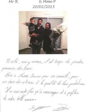 Mr R... et Mme P...., La Chapelle sur Erdre, Nord-Loire, plain-pied, 3 chambres, garage