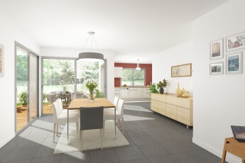 Maisons Bouvier : aménagement intérieur, salle à manger