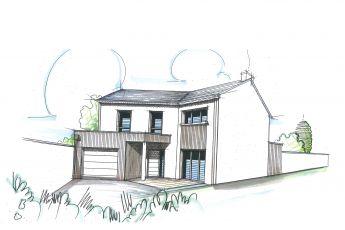 Maisons Bouvier : façade avant