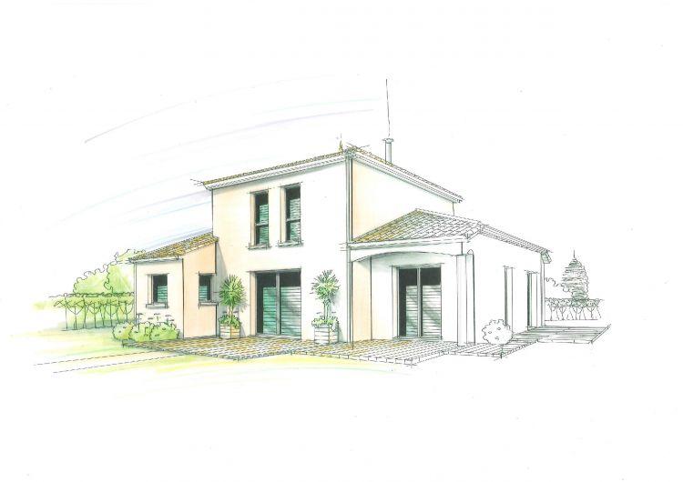 Maisons Bouvier : croquis de l'avant-projet